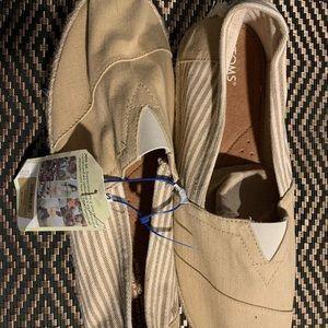 TOMS khaki shoes